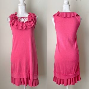 Nanette Lapore Pink Ruffle mini dress